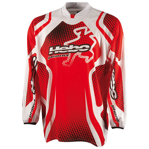 HEBO JERSEY END-CR PHENIX 4 JUNIOR L-RED HE2524LR