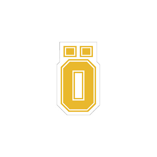 OHLINS STICKER O YELLOW LARGE