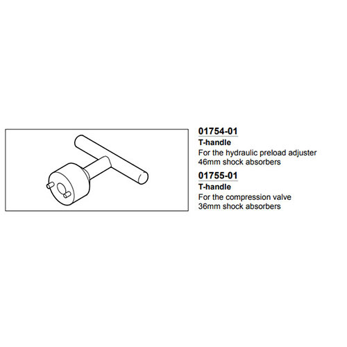 OHLINS T-HANDLE 3080-01